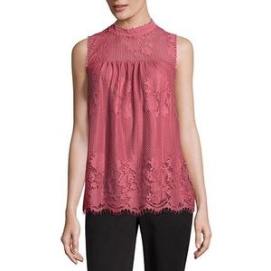 Worthington sleeveless high neck Georgette blouse